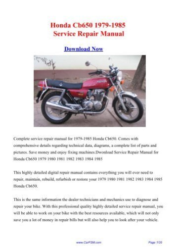 Honda 50 Repair Manual