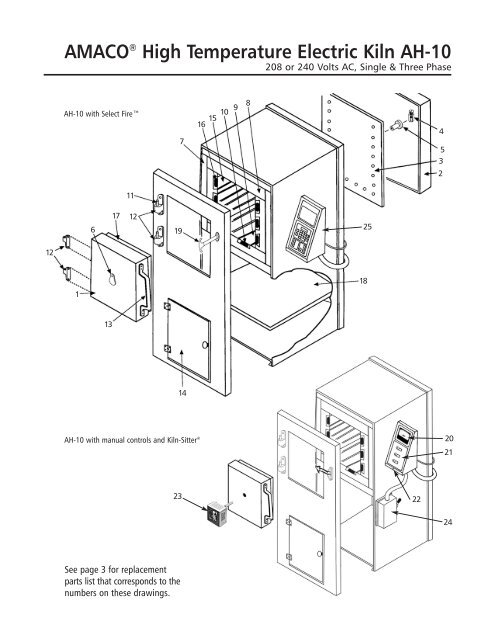 ah10 instruction manual with parts list and wiring diagrams