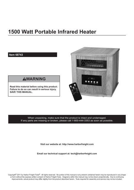 1500 watt portable infrared heater