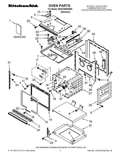 parts list microwave kehu309sss05
