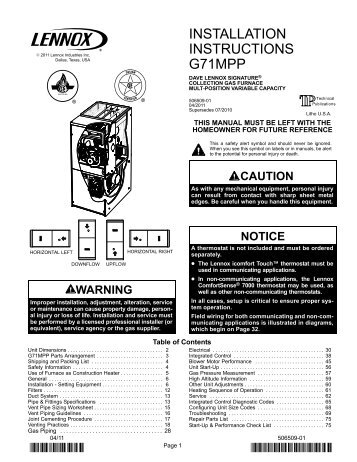 installation instructions g71mpp lennox?resize\\\=357%2C462\\\&ssl\\\=1 lennox wiring diagram gcs3 gandul 45 77 79 119 Basic Electrical Wiring Diagrams at edmiracle.co