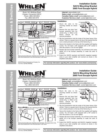 Whelen 295hfsa6 Wiring Diagram 30 S. 13970 Sa314 Siren Speaker Mounting Bracket Whelen Engineeringresize3572c462ssl1. Wiring. Wiring Diagram Whelen Linz6 Inner Edge At Scoala.co