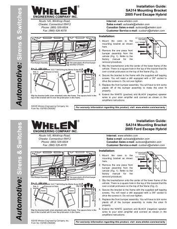 13970 sa314 siren speaker mounting bracket whelen engineering?resize=357%2C462&ssl=1 whelen 295hfsa6 wiring diagram whelen lightbar controllers whelen 295hfsa6 wiring diagram at alyssarenee.co