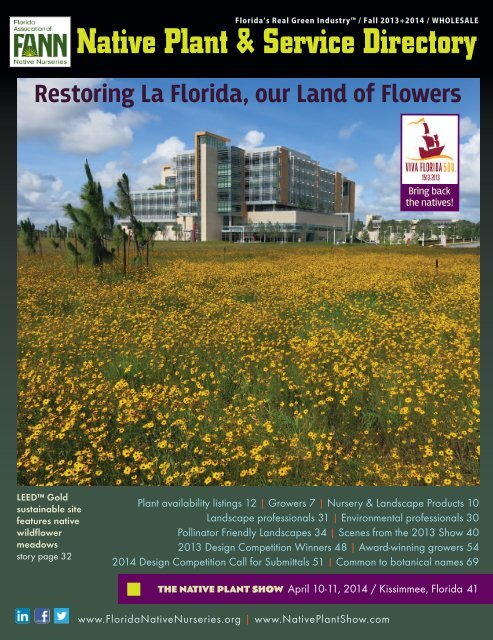 Native Plant Service Directory Florida Association Of Native