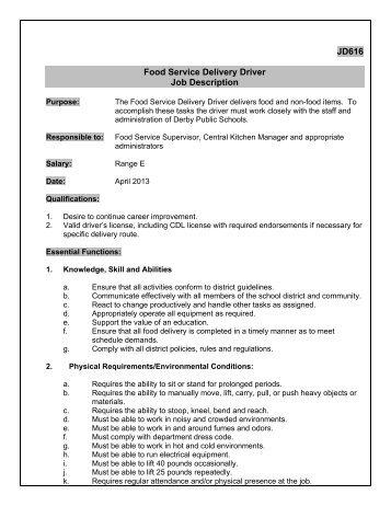 delivery driver job description best restaurant bar delivery
