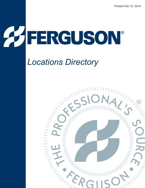 ferguson enterprises inc