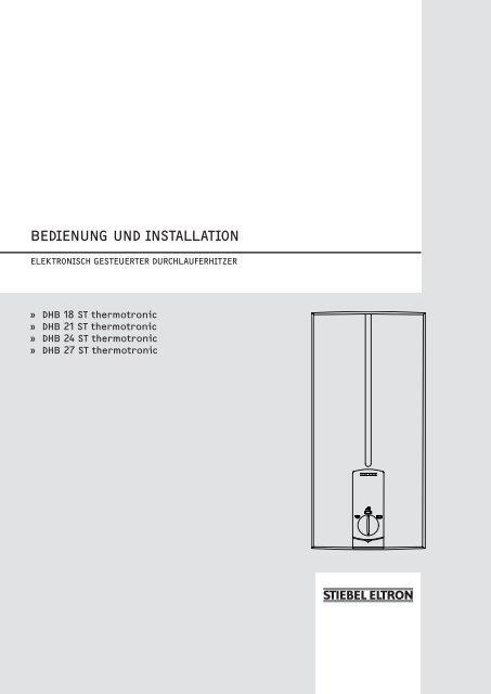 Bedienung Und Installation Stiebel Eltron