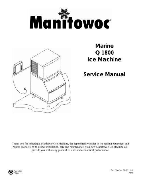 marine q 1800 ice machine service