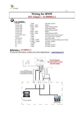 Parrot Mki9200 Installation Wiring Diagram : 42 Wiring Diagram ...