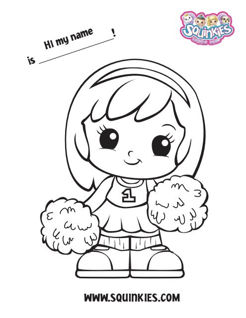 Squinkies Friends Coloring Pages Squinkies Com