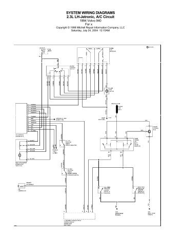 VOlvo 940 (1995) Wiring Diagrams