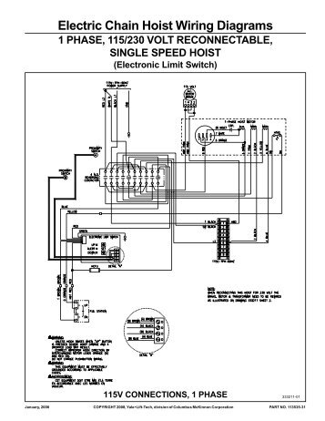 Manual for LoadMate Hoist Wiring Diagrams for Crane