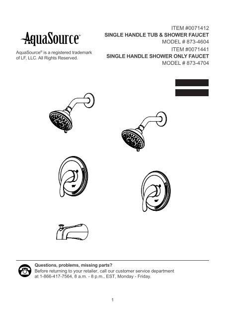 item 0071412 single handle tub