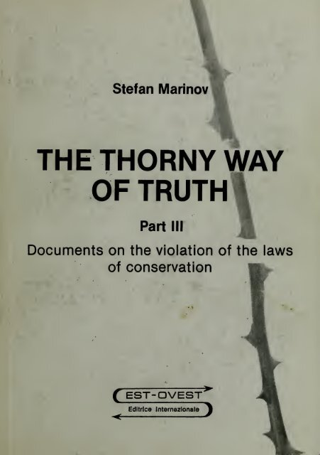The Thorny Way Of Truth Free Energy Community