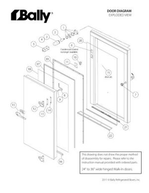 Replacement Door & Frame Order Form  Bally Refrigerated