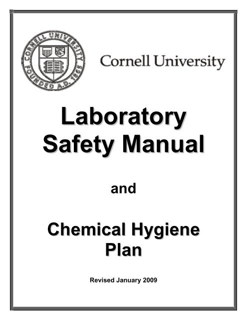 safety manual and chemical hygiene plan