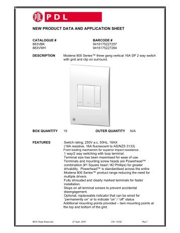 product data sheet 883v modena 800 series three gang clipsal?resize=357%2C462&ssl=1 clipsal 3 gang switch wiring diagram the best wiring diagram 2017 clipsal 30m wiring diagram at suagrazia.org