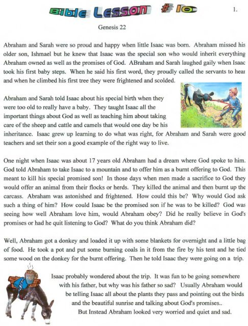 abraham and his guests sunday school # 16