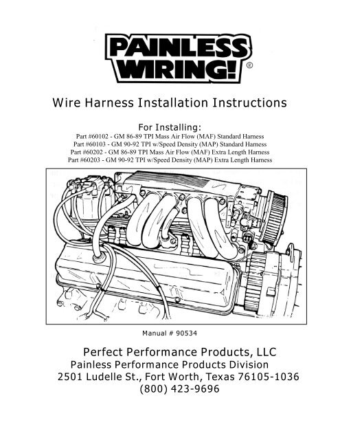 painless wiring harness diagram gm tpi  wiring diagrams