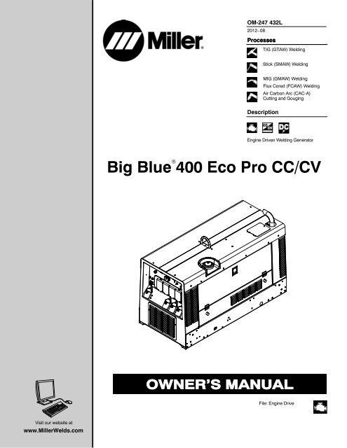 Big Blue 400 Eco Pro Cc Cv Miller