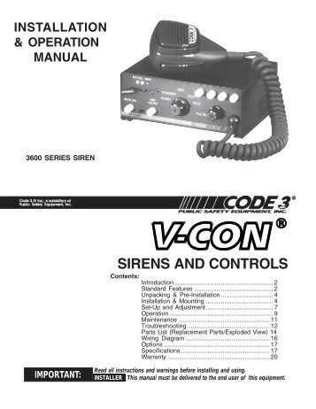 v con siren installation guide code 3 public safety equipment?resize=357%2C462&ssl=1 code 3 traffic buster wiring diagram code wiring diagrams collection galls traffic buster code 3 wiring diagram at gsmx.co