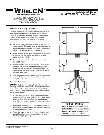 13407 vpps2e strobe power supply whelen engineering galls st160 wiring diagram panasonic wiring diagram \u2022 wiring galls street thunder siren wiring diagram at gsmportal.co