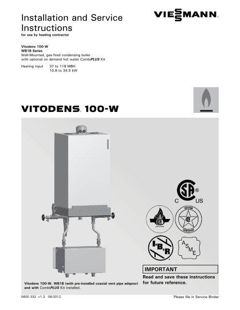 Viessmann 7459305 Installation Instructions Boston Heating Supply