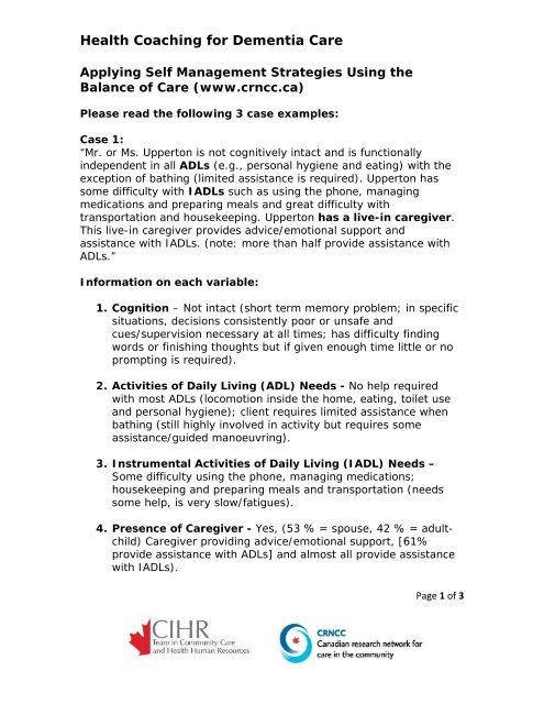 Self Management Session Worksheet Solutions East