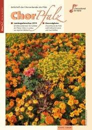 Zeitschrift Des Chorverbandes Der Pfalz Nr 1 2010 Chorpfalz Online
