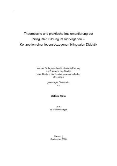 Theoretische Und Praktische Implementierung Der Bilingualen