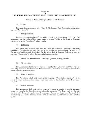 Hoa Bylaws Template  club constitution and delinquent  sample letter