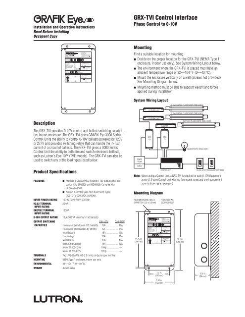 grxtvi control interface  commtec