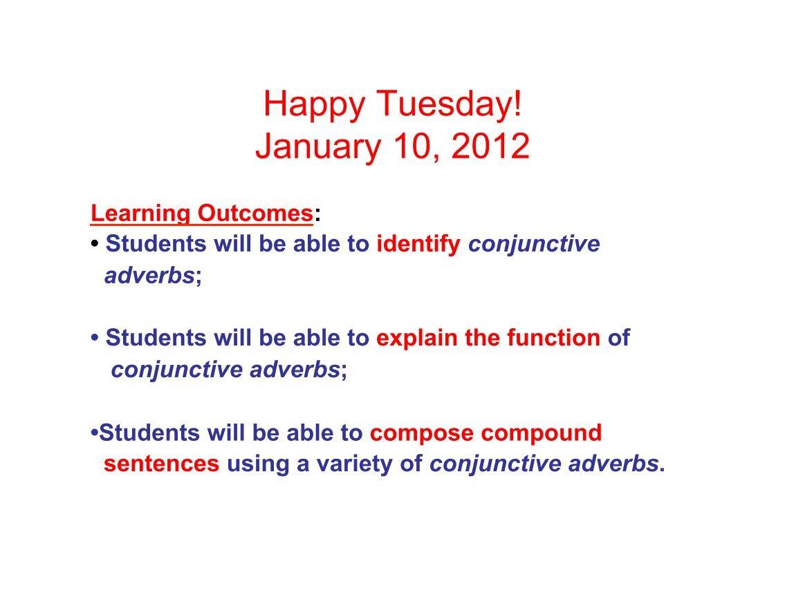 Conjunctive Adverbs Worksheet Photos Roostanama