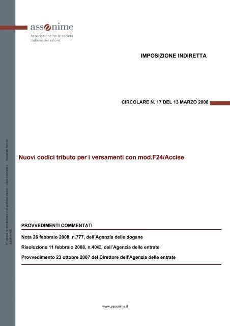 Mod F24 Agenzia Delle Entrate Compilazione Del Modello F24