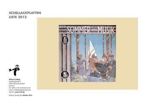 Klassik Gesang Classic Music Record Collectors