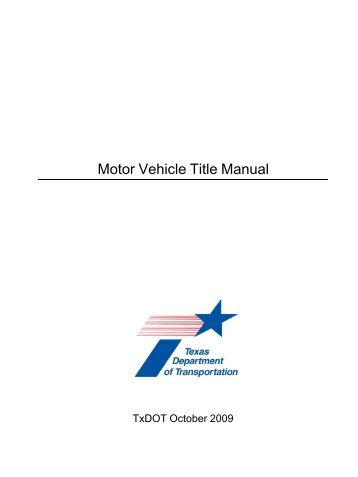 texas department of motor vehicles title | Newmotorspot.co