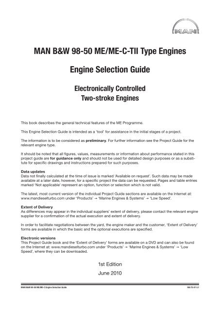 Please See The Specific Engine Project Guide Man Diesel Turbo
