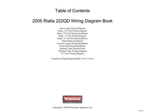 complete wiring diagram book  rialtainfo