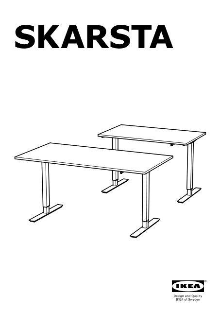 ikea skarsta bureau assis debout