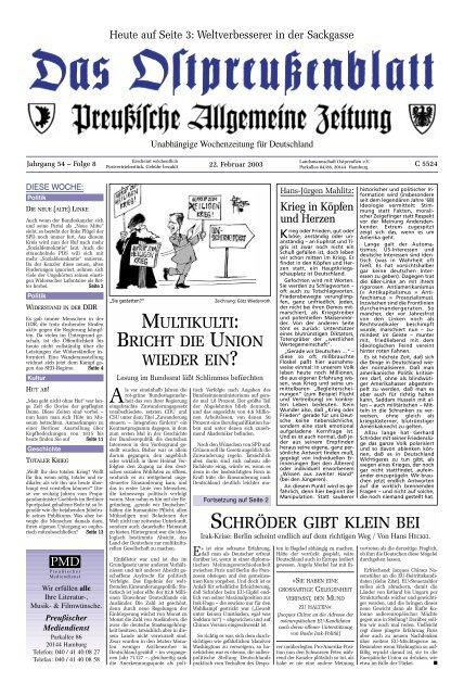 Wir Schenken Ihnen Diese Videos Archiv Preussische Allgemeine