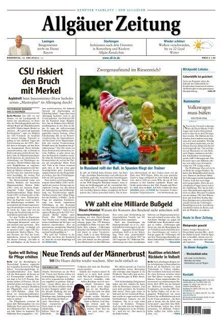 Allgauer Zeitung Kempten Vom 14 Juni 2018