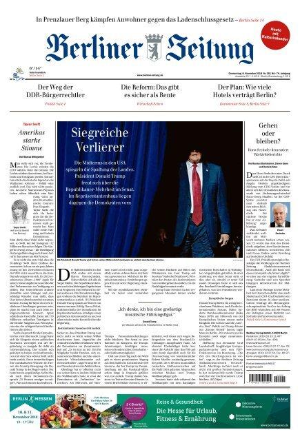 Berliner Zeitung 08 11 2018