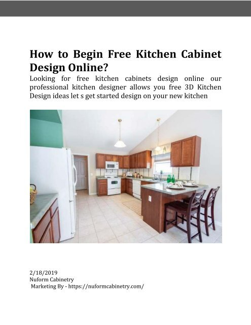 How To Begin Free Kitchen Cabinet Design Online