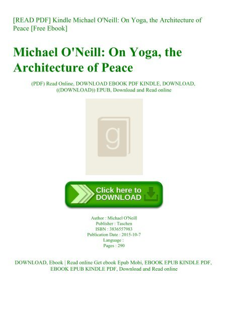 Read Pdf Kindle Michael O 039 Neill On Yoga The Architecture Of Peace Free Ebook