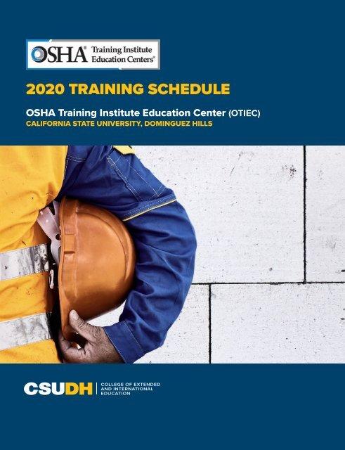 2020 Csudh Osha Course Catalog Interactive