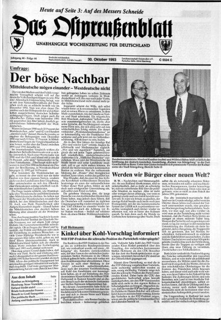 Folge 44 Vom 30 10 1993 Archiv Preussische Allgemeine Zeitung