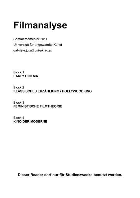 Filmanalyse Gabriele Jutz