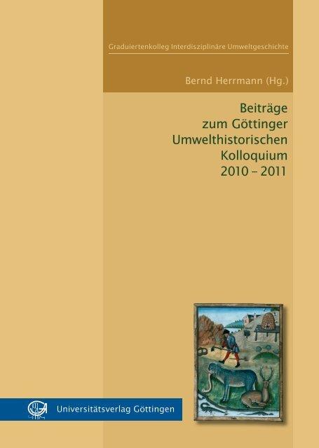 Beitrage Zum Gottinger Umwelthistorischen Kolloquium Oapen