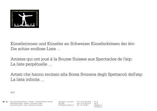 Kunstlerinnen Und Kunstler An Schweizer Kunstlerborsen Der Ktv
