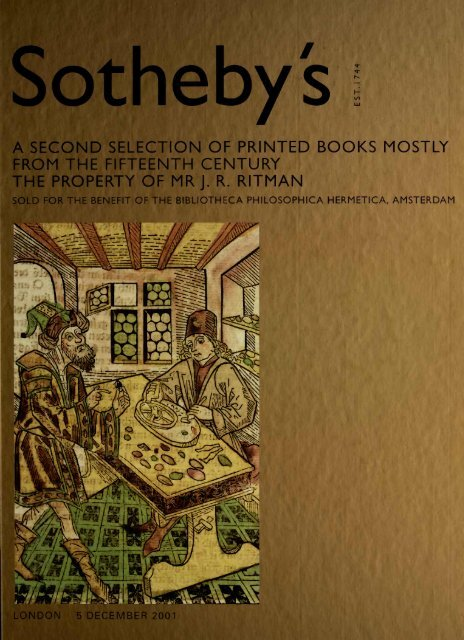 sotheby s printed books 15th century